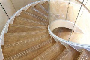 curved staircase Cheniere London Corporate interior design
