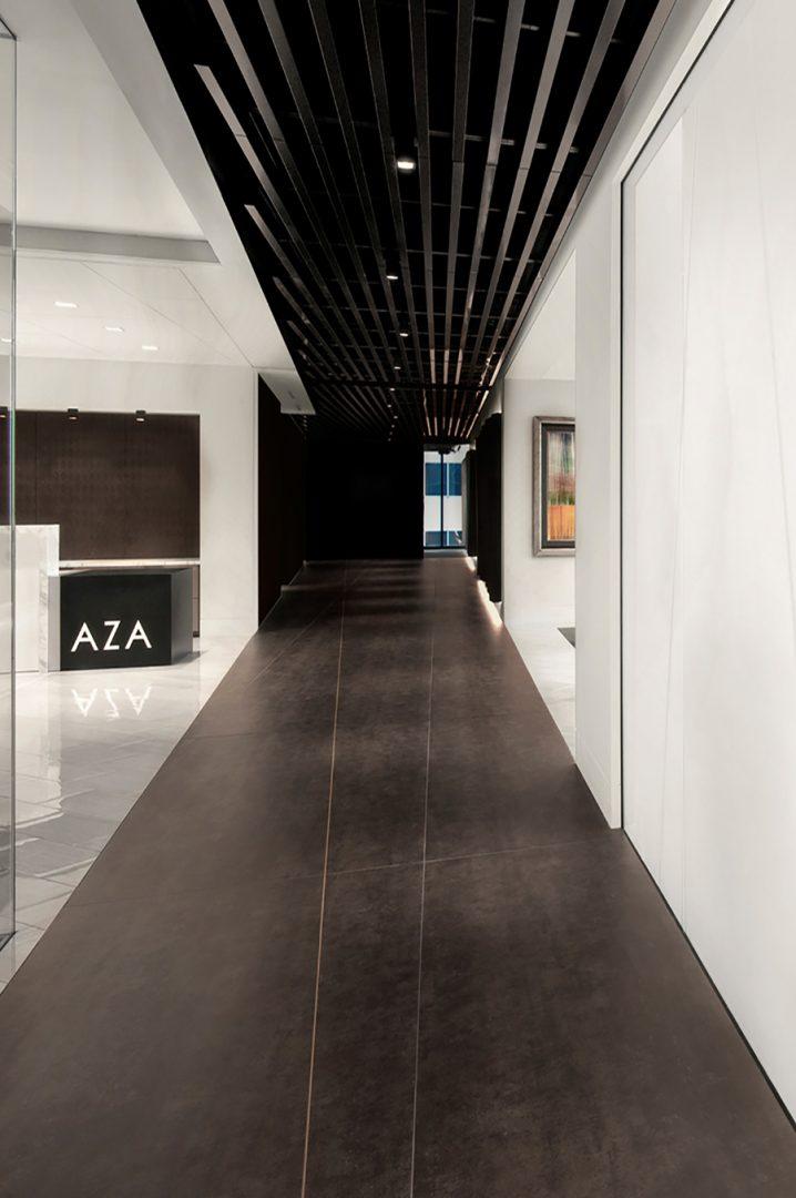 Corporate Law Interior Design High Contrast Hallway AZA LAW