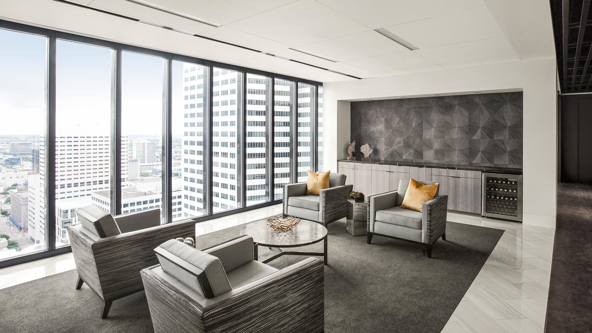 Corporate Law Interior Design Seating Coffee Bar