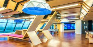 Corporate Interior Design Blinds.com Houston Fun Colorful Modern Breakout