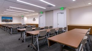 Workplace Interior Design Superior Energy Houston Training Room Partition Open Reconfigurable Tables