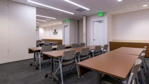 Workplace Interior Design Superior Energy Houston Operable Wall Partly closed