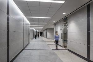 Architecture Building Repositioning Corporate Interior Design 1415 Louisiana Houston Elevator Lobby
