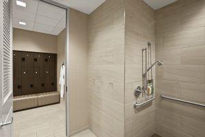 ADA Compliant Locker Room Shower