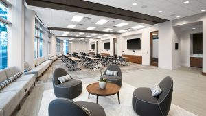 Corporate Interior Design Newfield Conference Center Informal Meeting Seating Area