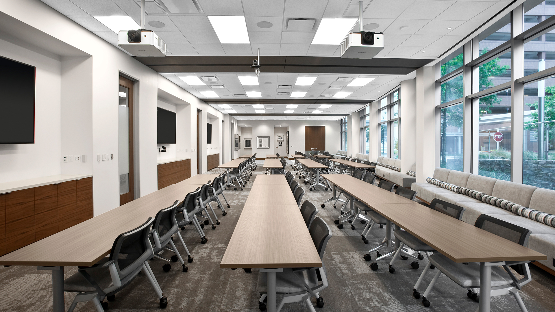 Corporate Interior Design Newfield Conference Center Multi configuration Training Room