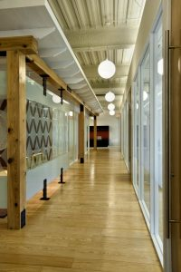 Non-Profit Corporate Interior Design Houston Cypress Timber Beams