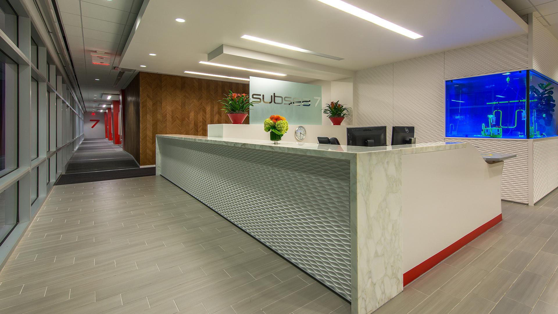Subsea 7 Houston Corporate Interior Design Reception