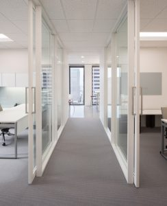 Corporate Interior Law Design McFarland Houston Glass Front Offices