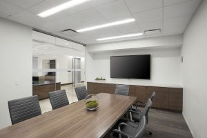 NEWFIELD EXPLORATION Corporate Interior Design Conference Room Linear Lighting