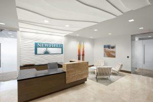 NEWFIELD EXPLORATION Corporate Interior Design Reception Entrance Lobby