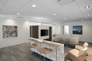 NEWFIELD EXPLORATION Corporate Interior Design Informal Meeting Space Booths