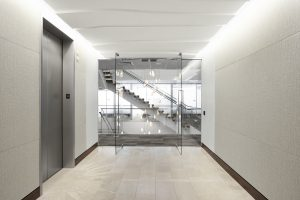 NEWFIELD EXPLORATION Corporate Interior Design Elevator Lobby Entrance Staircase Elevation
