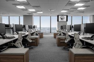 Corporate Interior Design Musket Corporation Houston Open Workstations