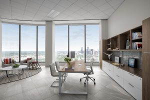Corporate Interior Design Musket Corporation Houston Private Office with View