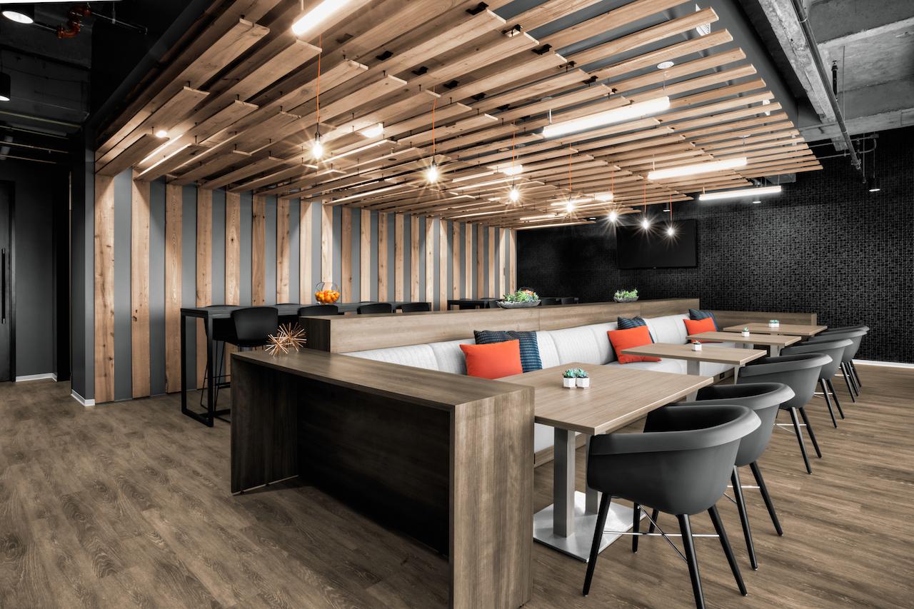 Corporate Interior Design Aptim The Woodlands Breakroom Seating