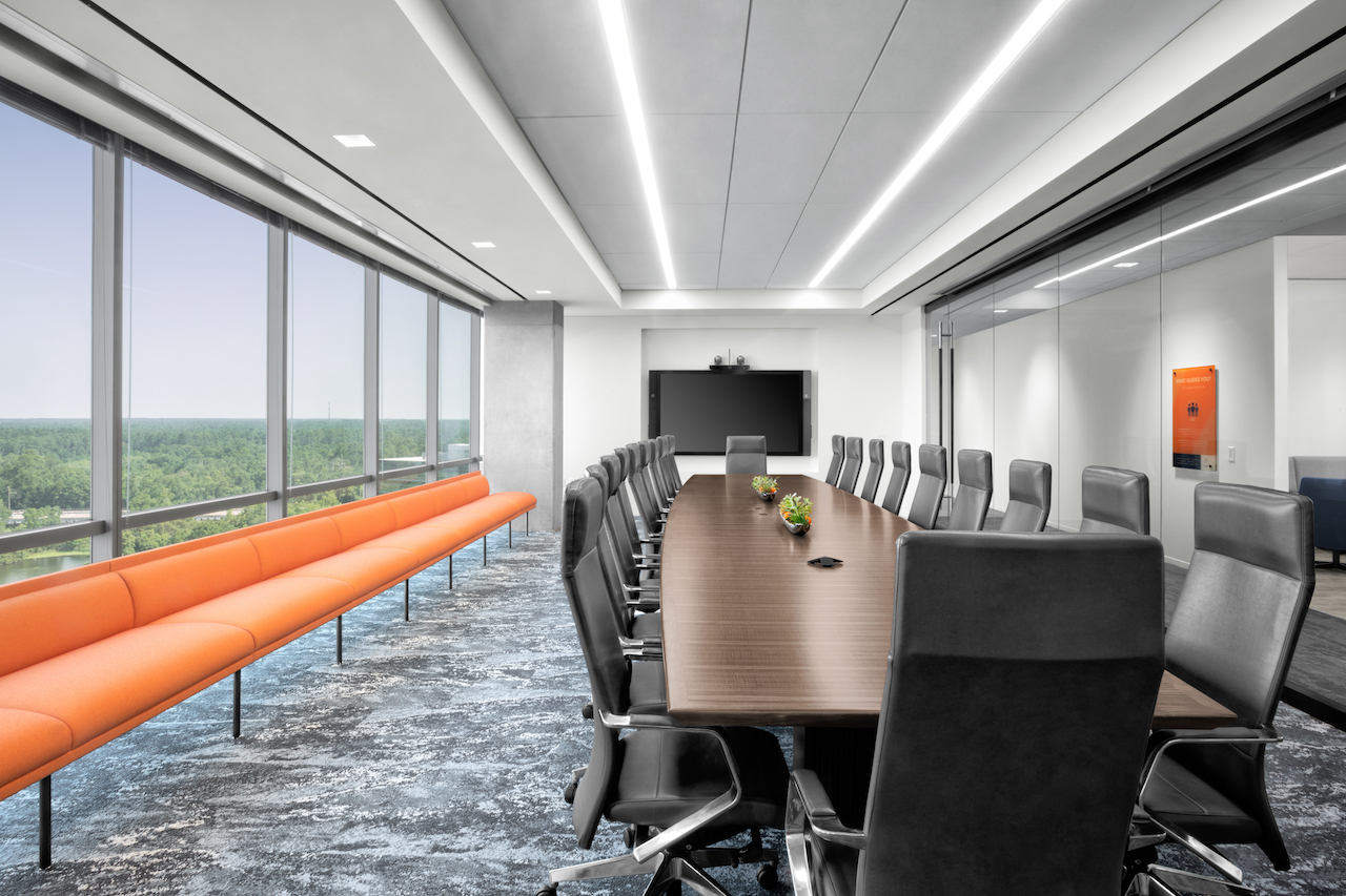 Corporate Interior Design Aptim The Woodlands Conference Room