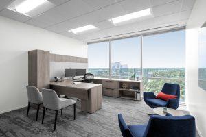 Corporate Interior Design Aptim The Woodlands Private Office