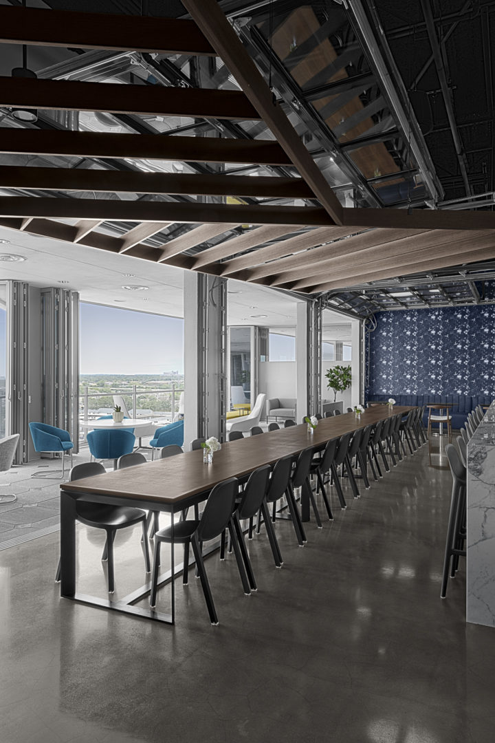 Lockton Corporate Office Breakroom with Full Outdoor View