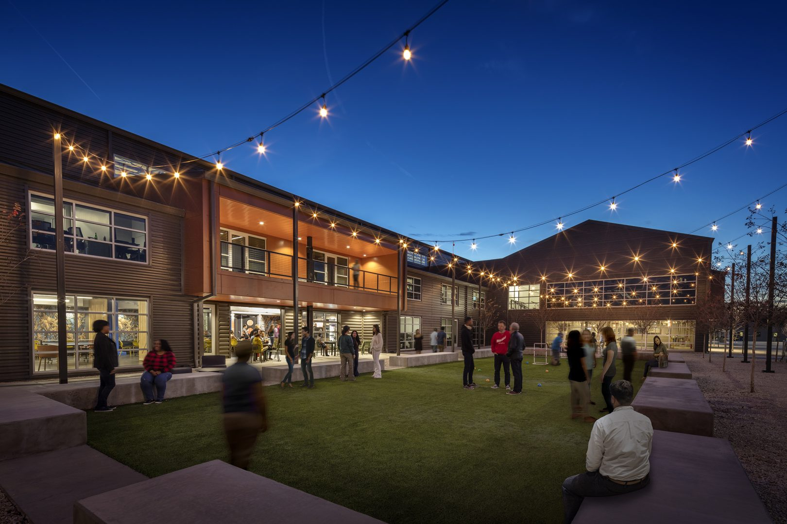 Warehouse Redesign Architecture Green Space THE CANNON HOUSTON