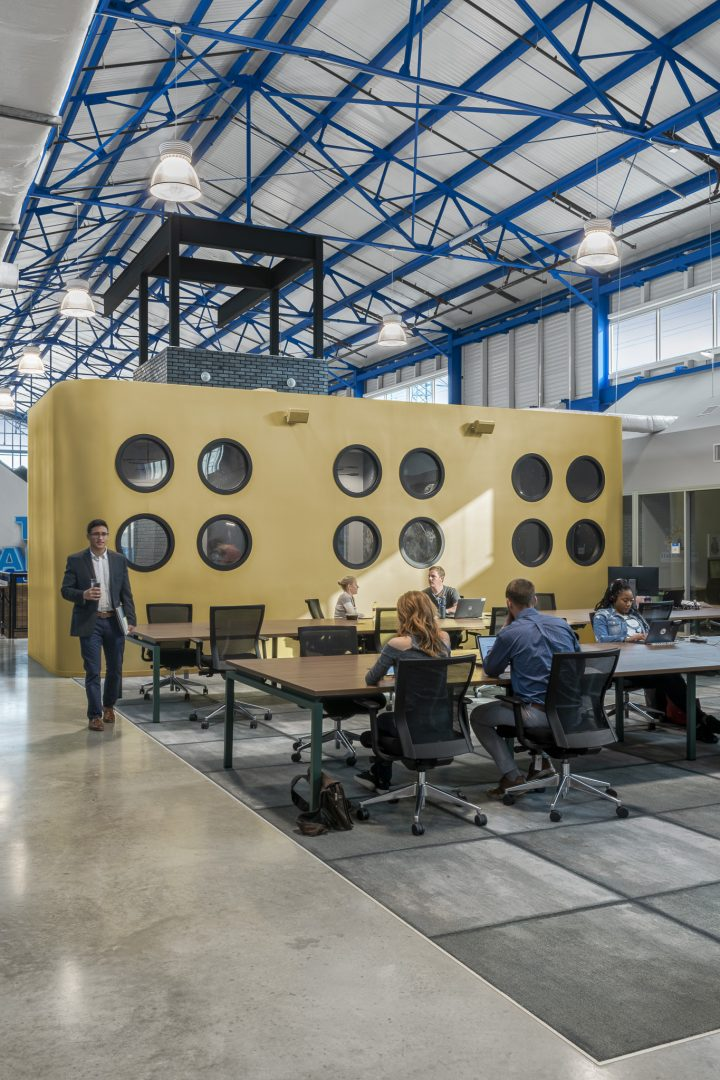 Corporate Interior Design Hot Desking THE CANNON HOUSTON