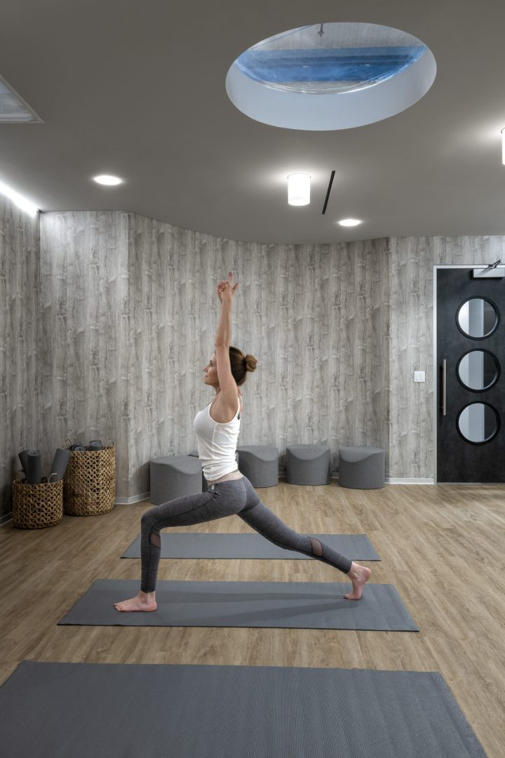 Corporate Interior Design Yoga Room THE CANNON HOUSTON