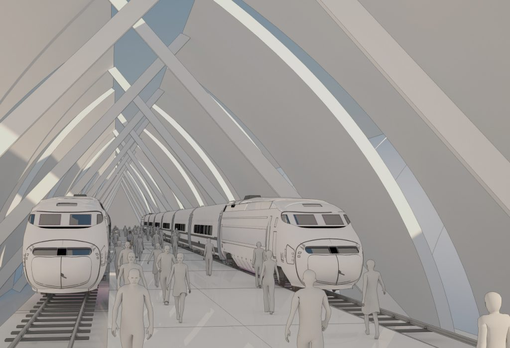Bullet Train Station Concepts