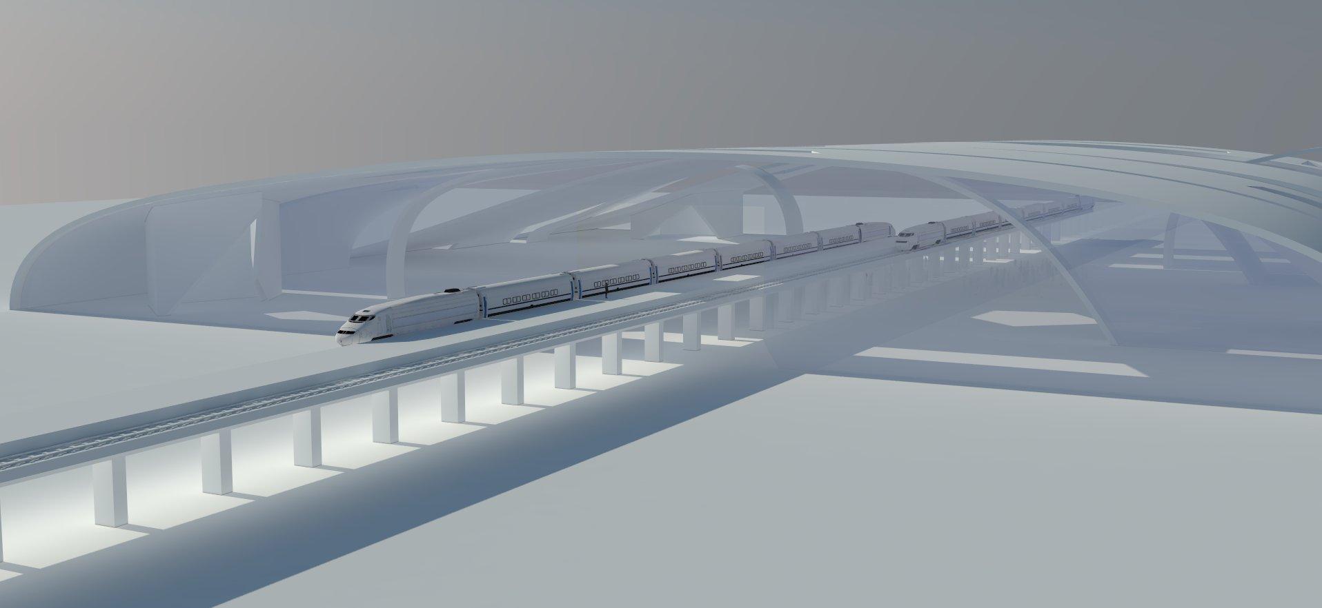 Bullet Train Station Concepts
