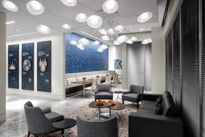 Corporate Interior Design Newfield Exploration Executive Floor Informal Meeting Seating Area