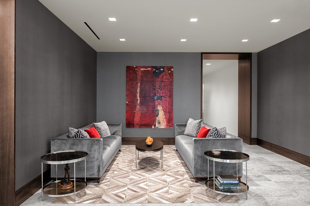 Corporate Interior Design Newfield Exploration Executive Floor Informal Seating Area