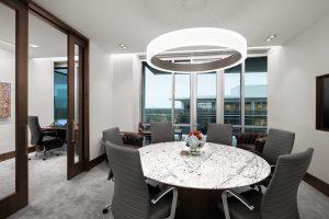 Corporate Interior Design Newfield Exploration Executive Floor Small Meeting Room