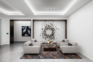 Corporate Interior Design Lobby Seating NEWFIELD EXPLORATION EXEC FLOOR