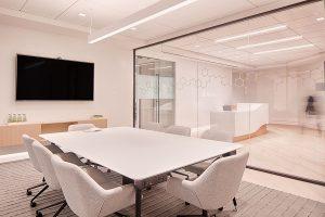 Corporate Interior Design Nova Chemicals Houston Conference Room White