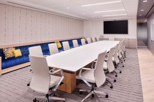 Corporate Interior Design Nova Chemicals Houston Blue Banquette