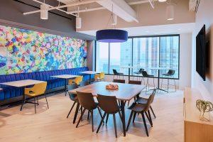Corporate Interior Design Nova Chemicals Houston Breakroom Dining Seating Banquette