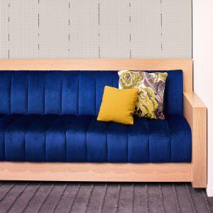 Corporate Interior Design Nova Chemicals Houston Blue Velvet Banquette