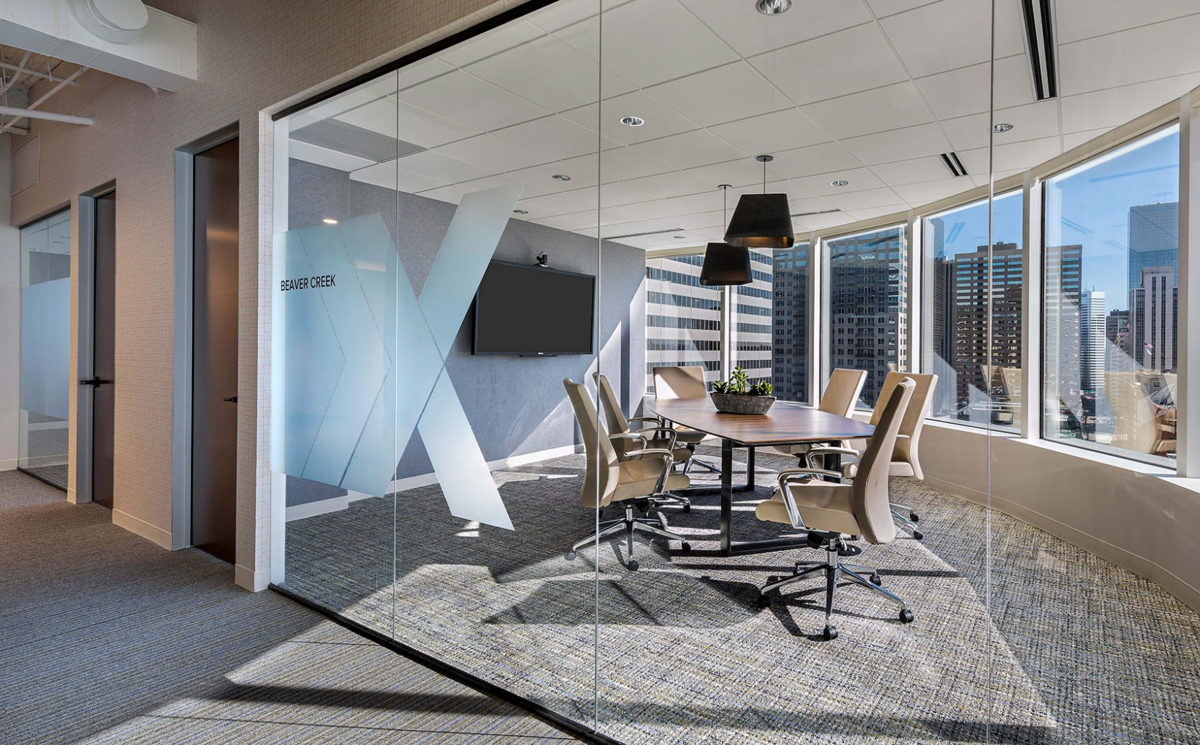 Corporate Interior Design Exeutive Conference Room XACTLY CORP DENVER