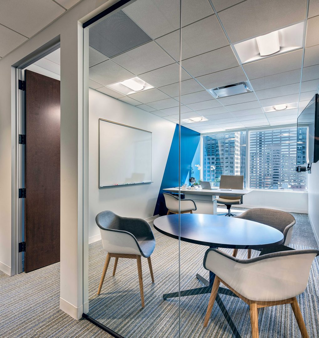 Corporate Interior Design Executive Private Office with View XACTLY CORP DENVER