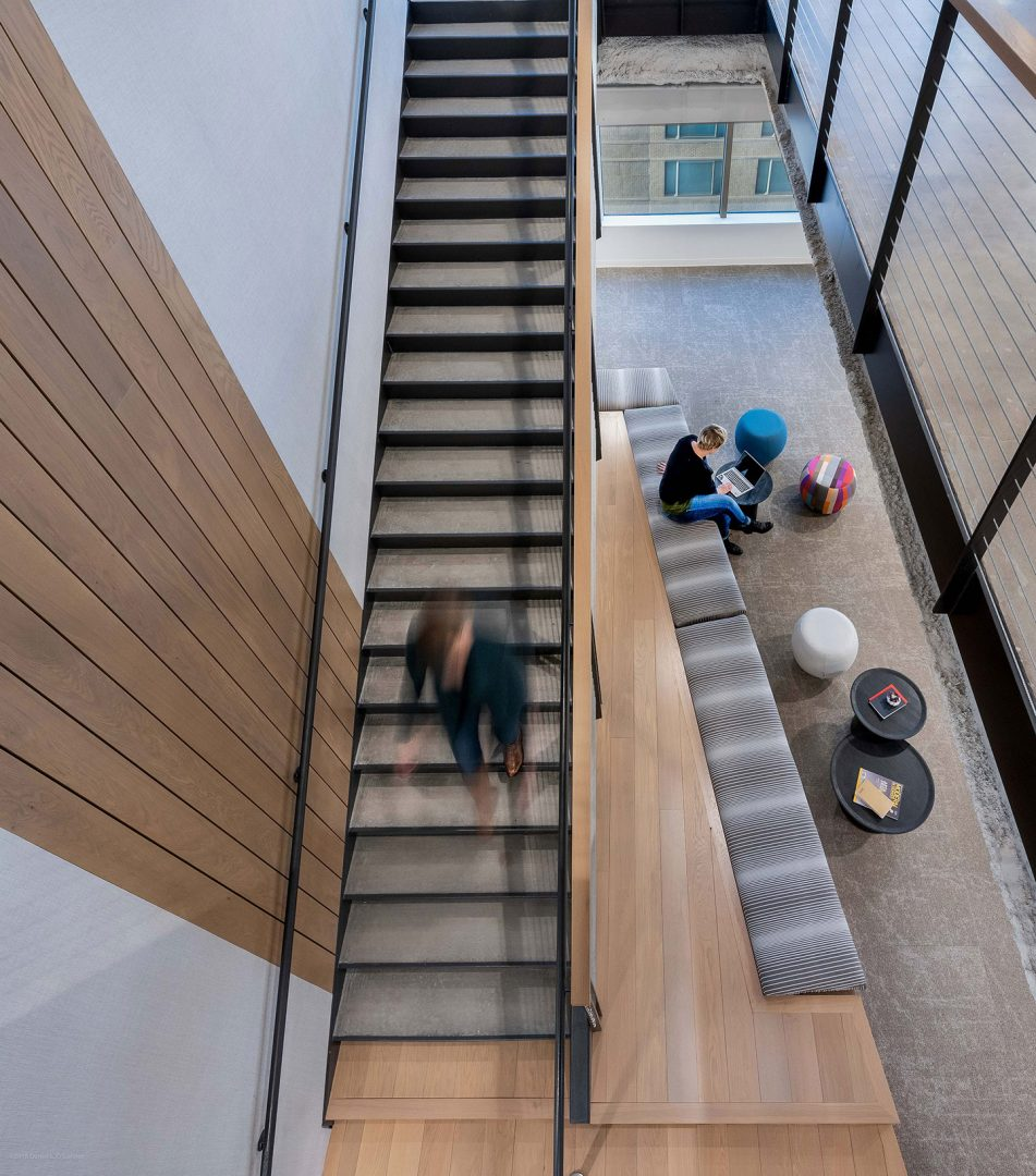 Corporate Interior Design Staircase XACTLY CORP DENVER