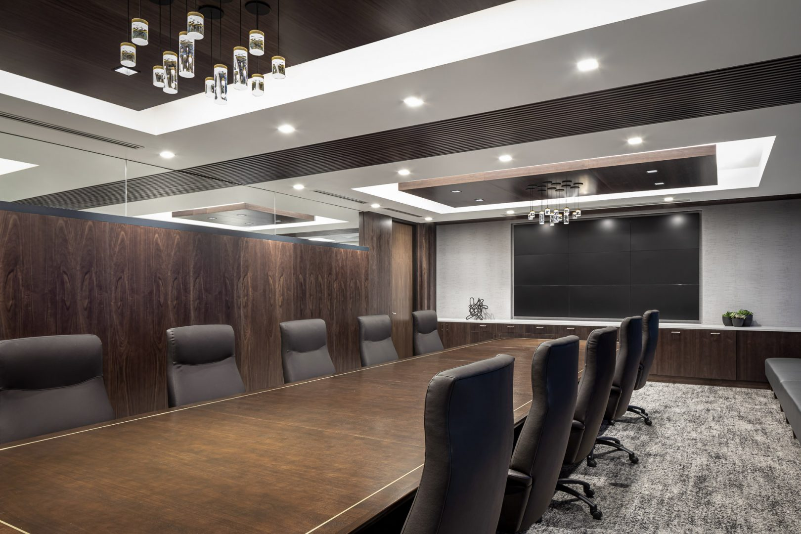 Corporate Interior Design Conference Room Wood Cladding