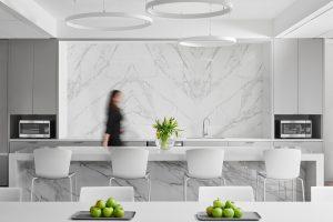 Institutional Corporate Office Interior Design Belmont Village Breakroom