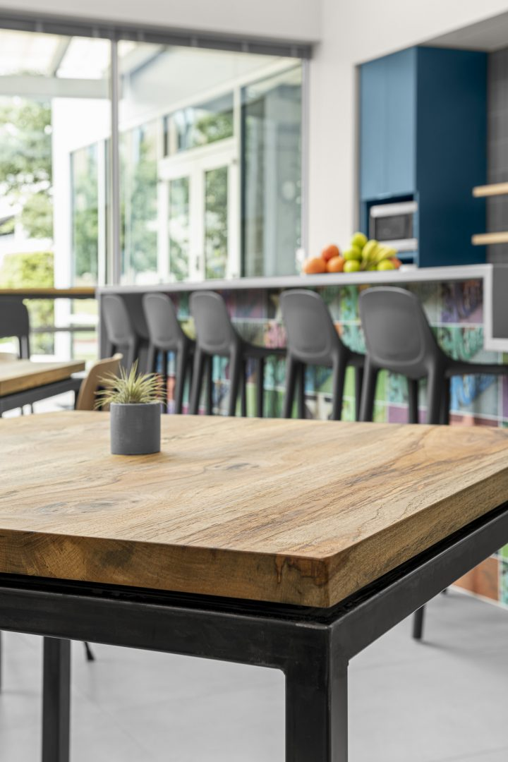 Corporate Technology Client AUSTIN Interior Design Booth Breakroom Bar Seating