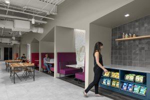 Corporate Technology Client AUSTIN Interior Design Break-Room