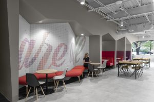 Corporate Technology Client AUSTIN Interior Design Breakroom Seating
