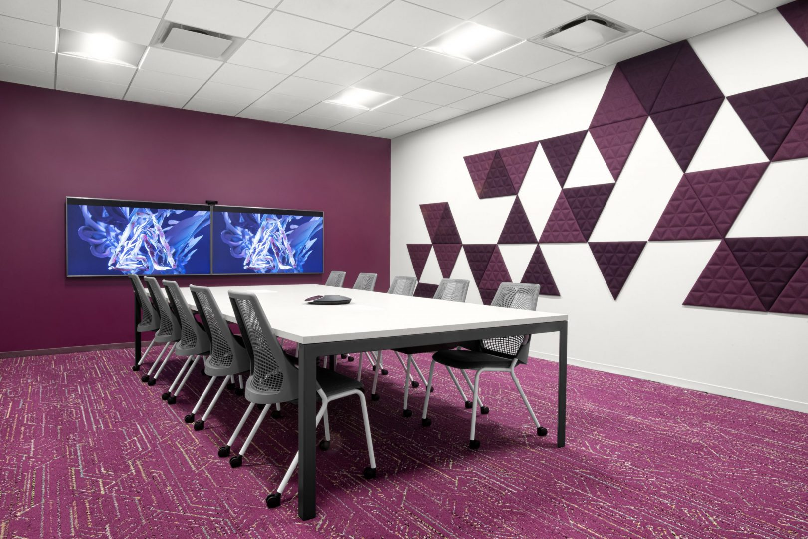 Corporate Technology Client AUSTIN Interior Design Conference-Room Magenta
