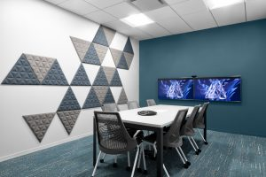 Corporate Technology Client AUSTIN Interior Design Conference Room Teal