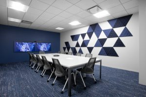 Corporate Technology Client AUSTIN Interior Design Conference-Room Navy