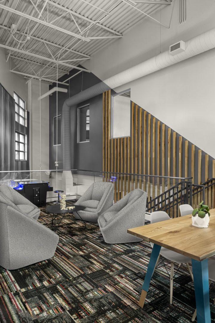 Corporate Technology Client AUSTIN Interior Design Lounge