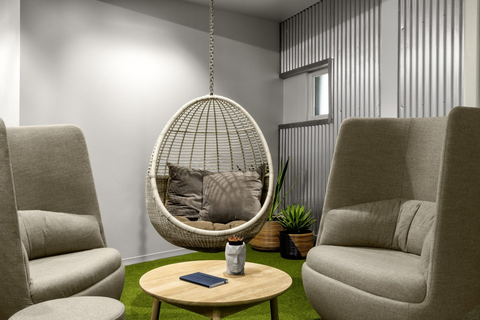 Corporate Technology Client AUSTIN Interior Design Lounge Hanging Chair