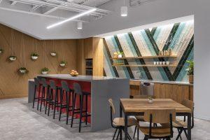 tech corporate office break area